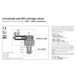 Intrinsically safe ISO cartridge valves LIDEW-WO,LIDBH-WO