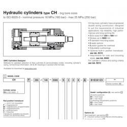 Hydarulic cylinders type CH big bore sizes CH Big Bores