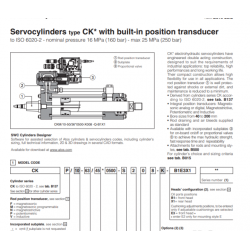 Servocylinders type CK with built-in position transducer CKF