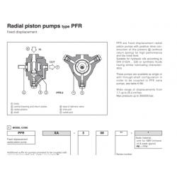 Radial piston pumps type PFR 2,3,5