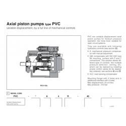 Axial piston pumps type PVC