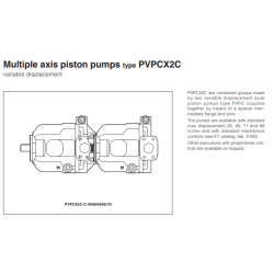 Multiple axis piston pumps type PVPCX2C