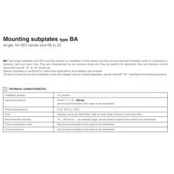 Mounting subplates type BA