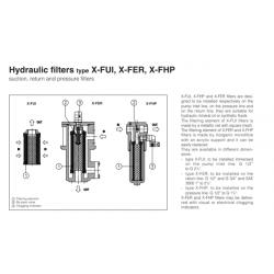 Hydraulic filters X-FUI, X-FER, X-FHP