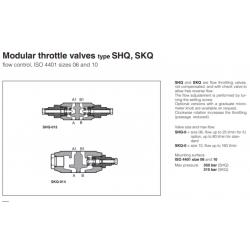 Modular throttle valves type SHQ, SKQ