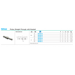 9094U Probe, Straight-Through, with Hosetail