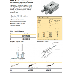Guided Parallel Precision Grippers - P5GD Series