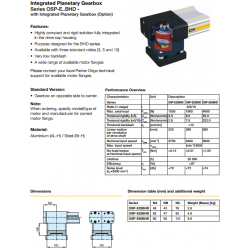 Integrated Planetary Gearbox Series OSP-E..BHD