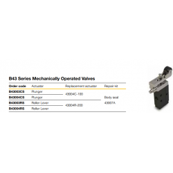 B43 Series Mechanically Operated Valves