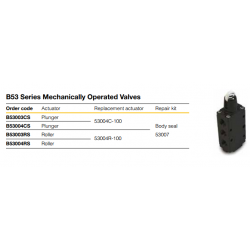 B53 Series Mechanically Operated Valves