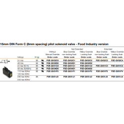 15mm DIN Form C (8mm spacing) pilot solenoid valve
