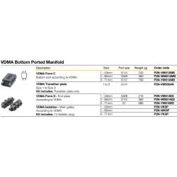 VDMA Bottom Ported Manifold