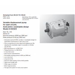 Variable displacement pump for open circuits, Axial piston, swashplate design Model A10V(S)O