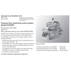 Pressure-flow closed loop control system Model SYHDFEE