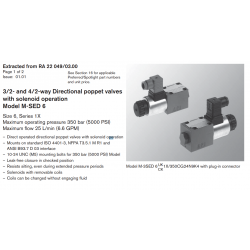 3/2- and 4/2-way Directional poppet valves with solenoid operation Model M-SED 6
