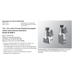 2/2-, 3/2- and 4/2-way Directional poppet valves with solenoid operation Model M-SEW 6