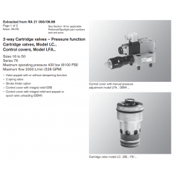 2-way Cartridge valves – Pressure function Cartridge valves, Model LC... Control covers, Model LFA...
