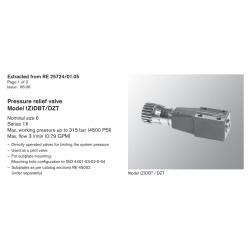 Pressure relief valve Model (Z)DBT/DZT