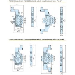 PVL-B2 Valve Series - Dimensions