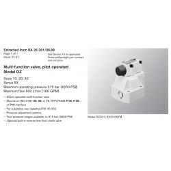 Multi-function valve, pilot operated Model DZ Sizes 10, 20, 30 Series 5X