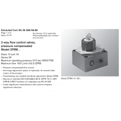 2-way fl ow control valves, pressure compensated Model 2FRM… Sizes 10 and 16 Series 3X