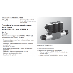 Proportional pressure reducing valve, 3-way design Model 3DREP 6… and 3DREPE 6…