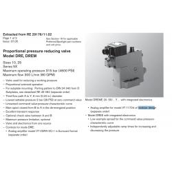 Proportional pressure reducing valve Model DRE, DREM