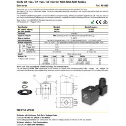 Coils 32 mm / 37 mm / 40 mm for N33-N34-N35 Series
