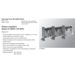 Electric amplifi ers Model VT-VRPA1 (PV-RTP) Series 1X