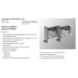 Electric amplifi ers Model VT-VRPA2 Series 1X