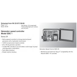 Generator speed controller Model GSC 1 Series 2X