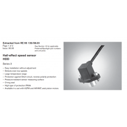 Hall-effect speed sensor HDD Series 2