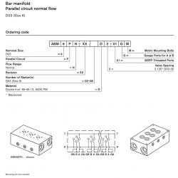 Bar manifold Parallel circuit normal flow D03 (Size 6)