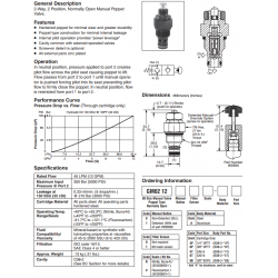 2-Way Manual Poppet Valve Series GM02 12