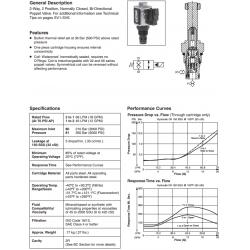 Bi-Directional Poppet Type, 2-Way Valve Series GS04 80/81