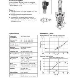 Bi-Directional Poppet Type, 2-Way Valve Series GS06 80/81