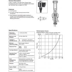 Bi-Directional Poppet Type, 2-Way Valve Series GS02 77/78