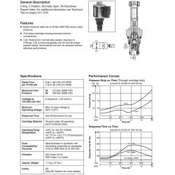 Bi-Directional Poppet Type, 2-Way Valve Series GS04 85/86