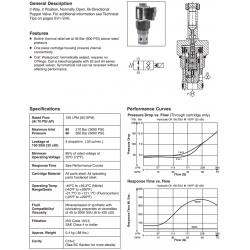 Bi-Directional Poppet Type, 2-Way Valve Series GS06 85/86
