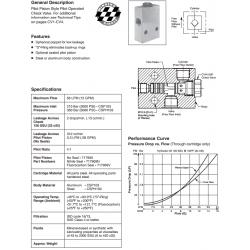 Pilot Piston Style P.O. Check Valve Series CSP103 / CSPH103