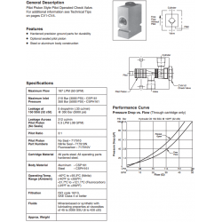 Pilot Piston Style P.O. Check Valve Series CSP161 / CSPH161