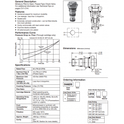 Pilot Operated Check Valve Series D4A020