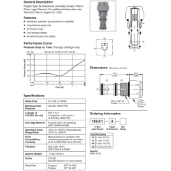 Poppet Type Logic Valve Series 10SLC1-A