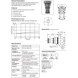 Poppet Type Logic Valve Series 16SLC1-A