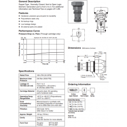 Poppet Type Logic Valve Series 16SLC1-C