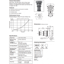 Spool Type Logic Valve Series 16SLC3-B