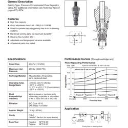 P.C. Priority Flow Control Valve Series J04D3