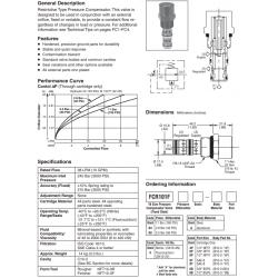 Restrictive Type Pressure Compensator Valve Series FCR101