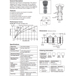 Restrictive Type Pressure Compensator Valve Series FCR161