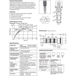 Priority Type Pressure Compensator Valve Series FCP101